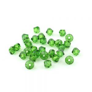 4mm Fern Green Swarovski Xilion Bead