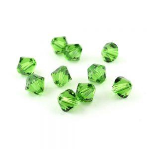 6mm Fern Green Swarovski Xilion Bead