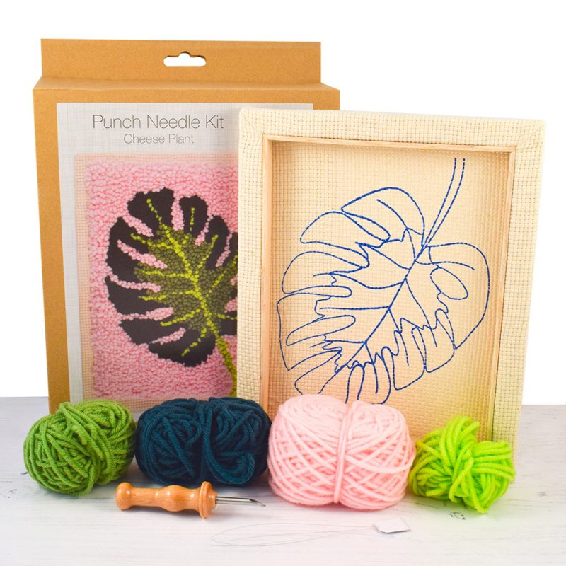 Cheese Plant Leaf punch needle kit