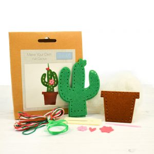 make your own felt cactus