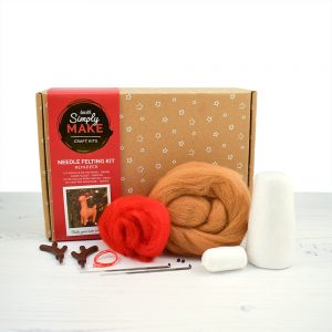 Reindeer needle felting kit