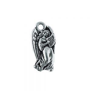 angel charm with harp