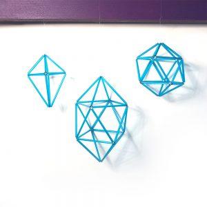 Blue Geometric Decorations kit
