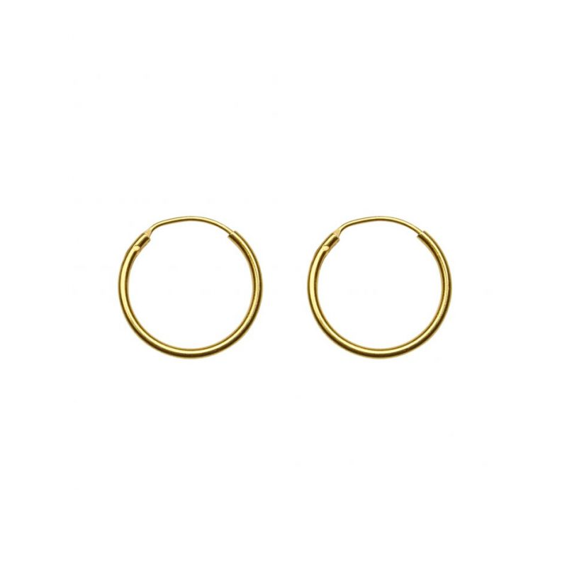gold plated Vermeil sterling silver hoops