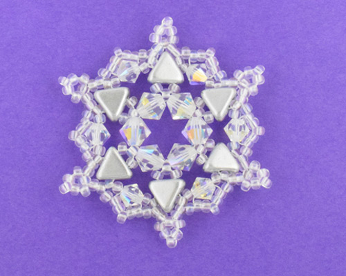 Sparkling Beaded Snowflake free pattern