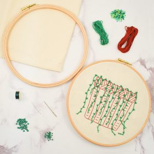 The Bead shop string of pearls embroidery kit