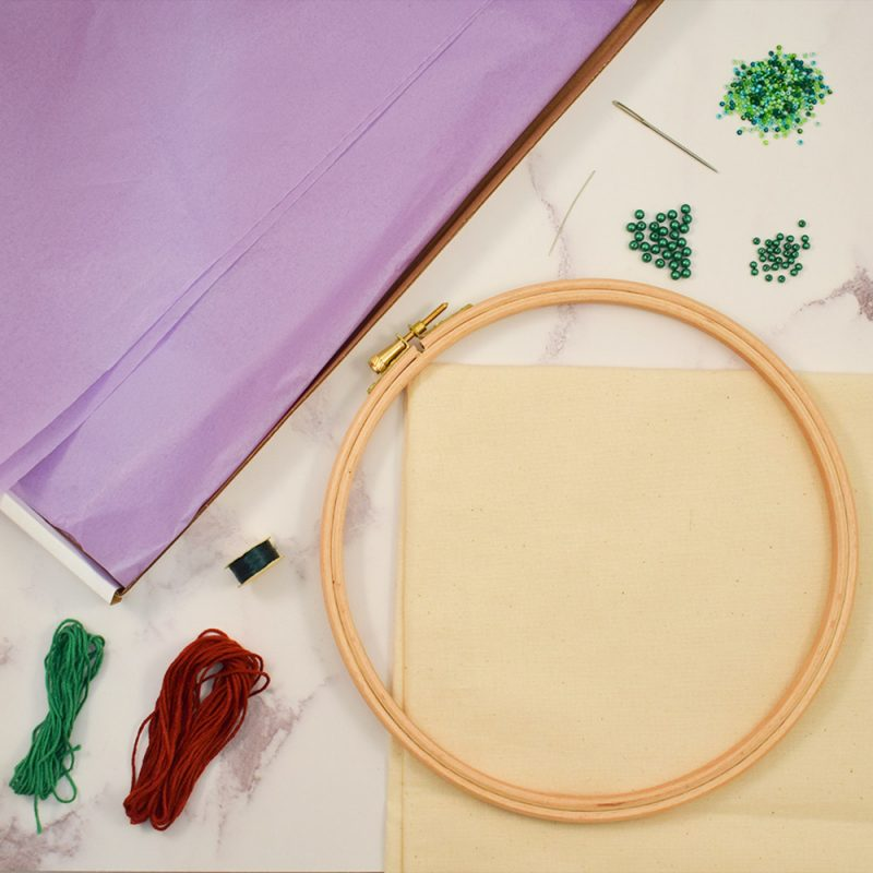 the bead shop embroidery kit contents