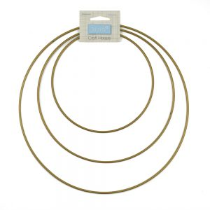 gold craft hoops for macrame