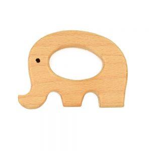 wooden macrame elephant