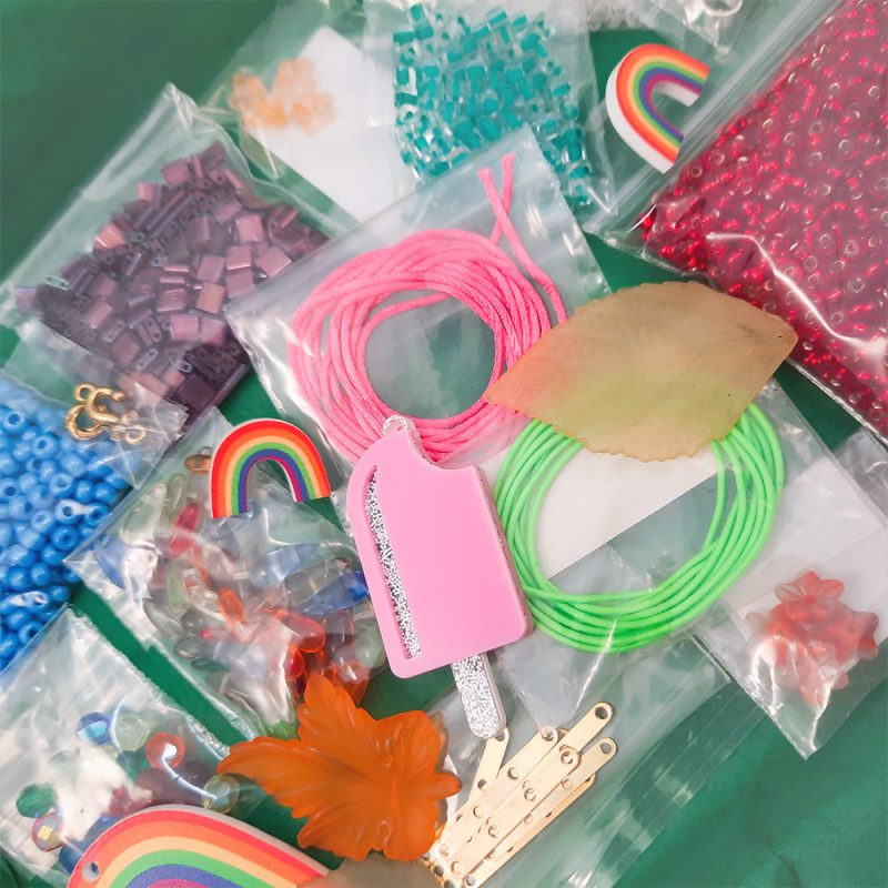 Mystery Sale box rainbow collection close up