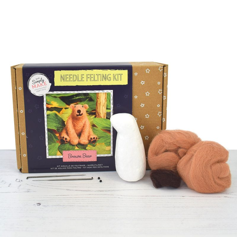 Brown Bear Needle Felting Kit