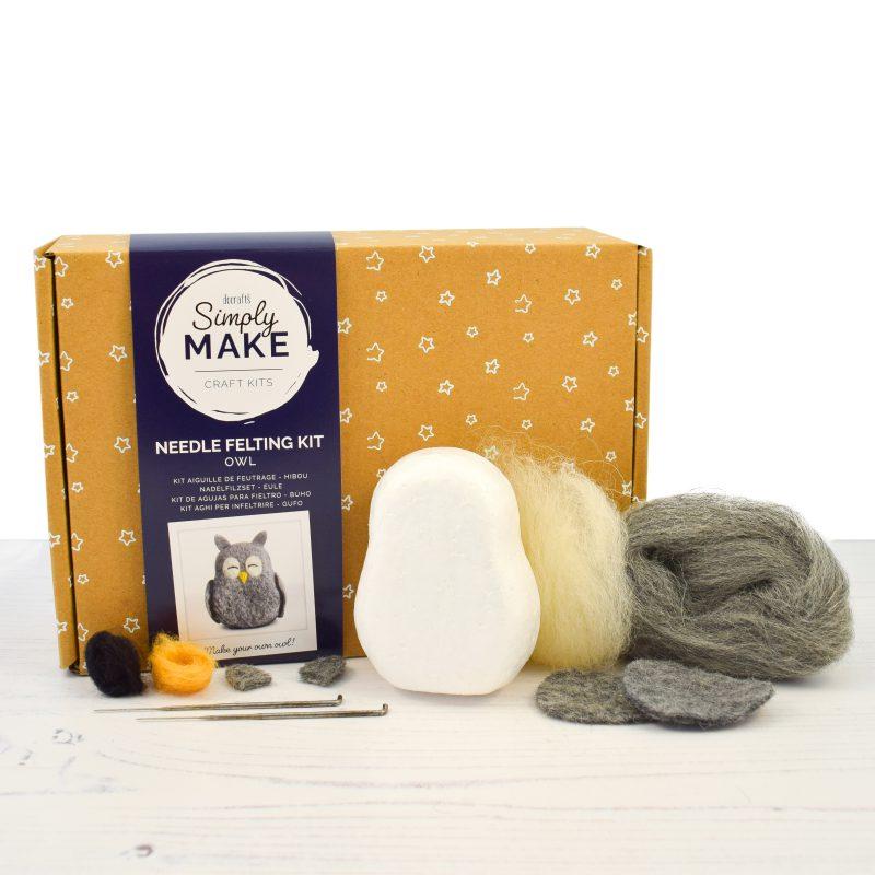 Owl Needle Felting Kit