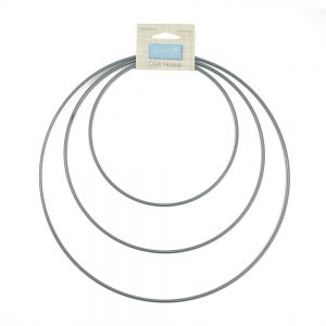 macrame craft hoops silver