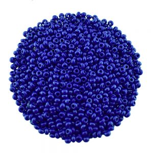 Preciosa Size 8 seed beads opaque navy blue