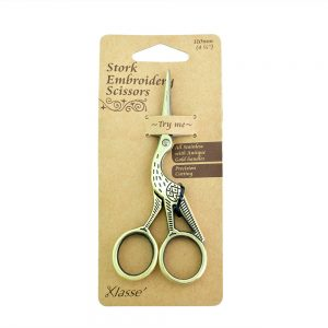 klasse antique gold stork embroidery scissors
