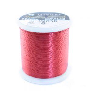 miyuki beading thread red 08
