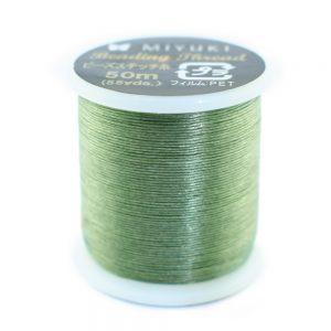 miyuki beading thread green 11
