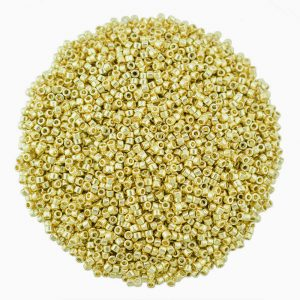 miyuki delica DB2501 duracoat galvanised pale gold