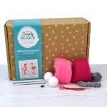 Flamingo needle felting kit