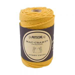 nutscene macrame cord 3ply 70m mustard