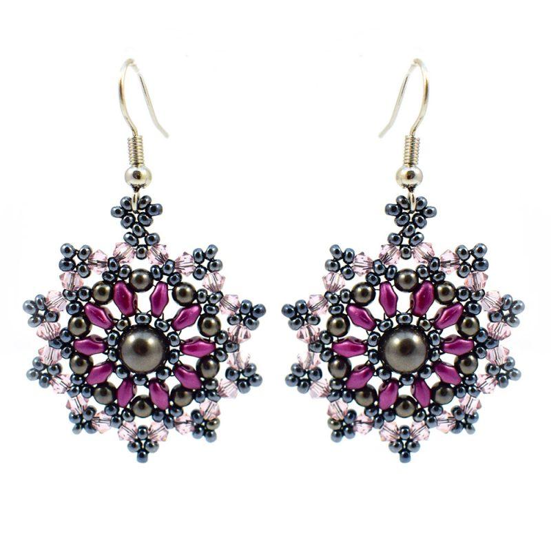 Mini Mandala Earrings Kit - Purple