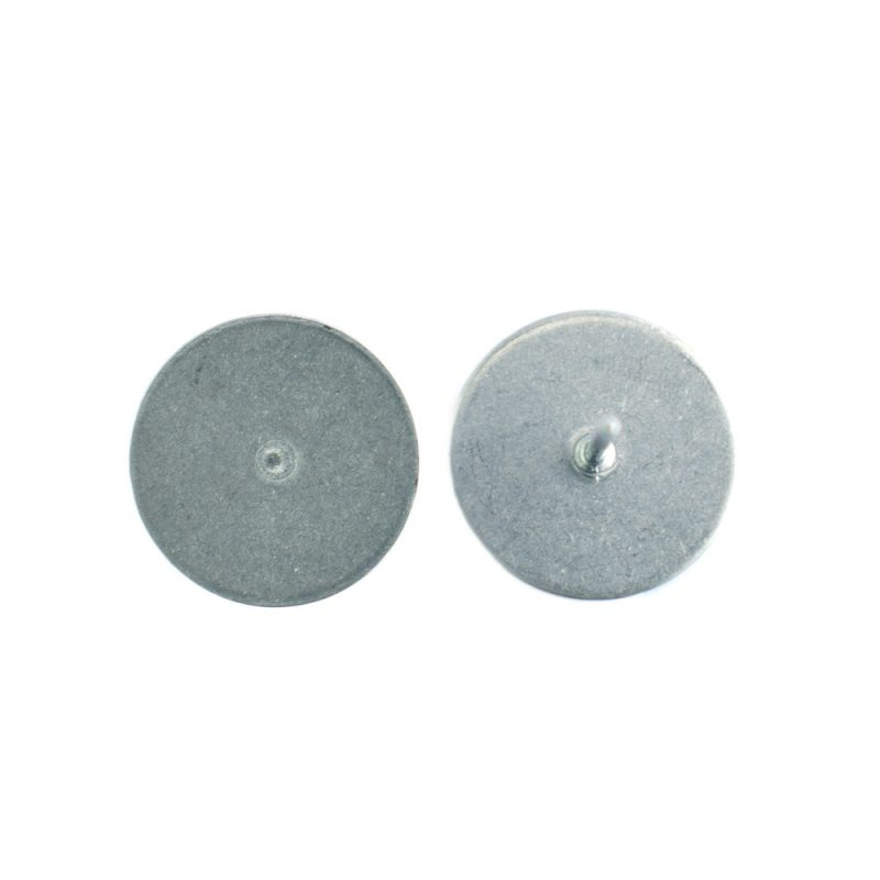 1mm ear stud flat pad surgical steel front and back