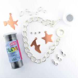 efco jewellery set charm bracelet