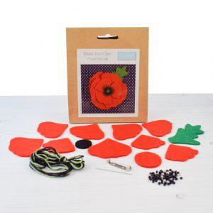 felt poppy brooch kit
