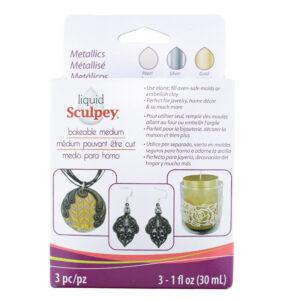liquid Sculpey metallics set