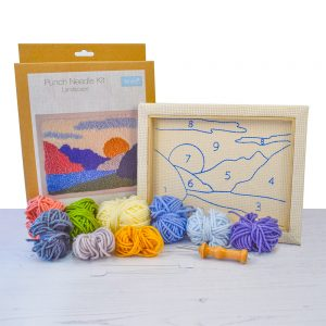 punch needle landscape kit