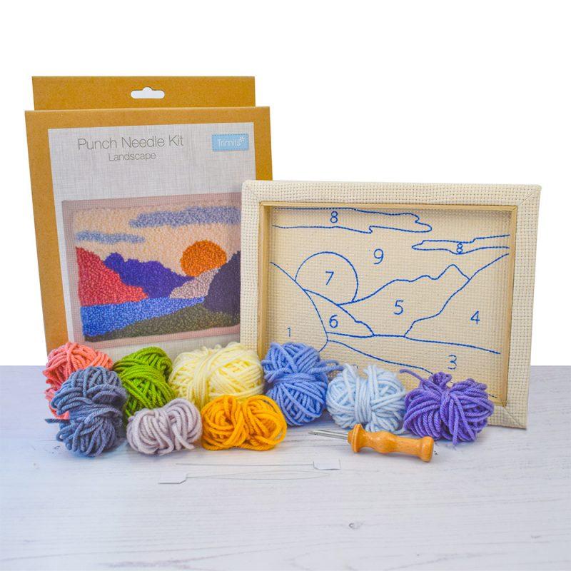 punch needle landscape kit