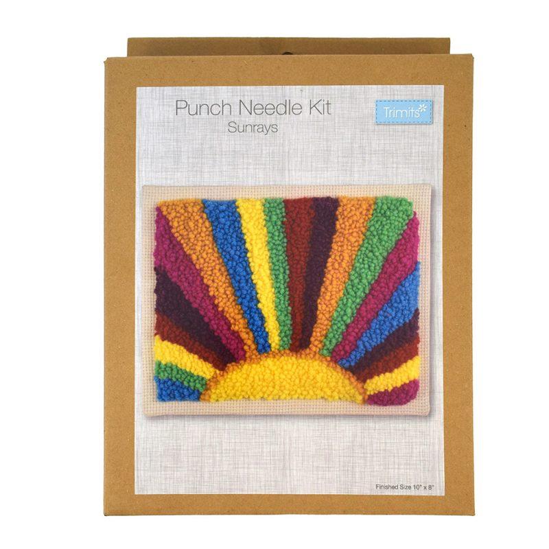 sunrays punch needle kit box