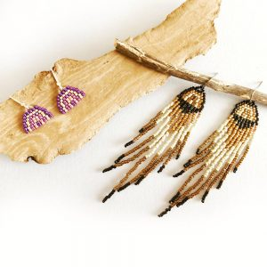 Rainbow Fringe Earrings Pattern - The Bead Shop Nottingham