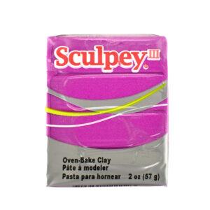 Sculpey III fuchsia pearl