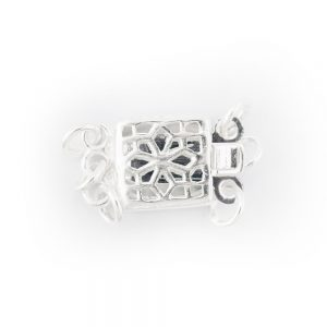 sterling silver 3 strand filigree box clasp
