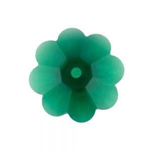 swarovski emerald 12mm sew on flower