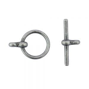 antique silver plain toggle clasp