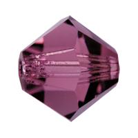 Amethyst Preciosa crystal bicone bead