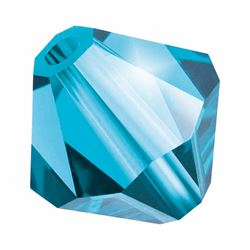 Aquamarine Bohemica Preciosa crystal bicone bead