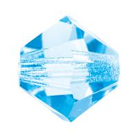 Aquamarine Preciosa crystal bicone bead