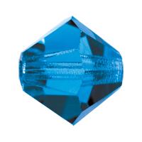 Caapri Blue Preciosa crystal bicone bead