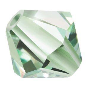 Chrysolite Preciosa crystal bicone bead