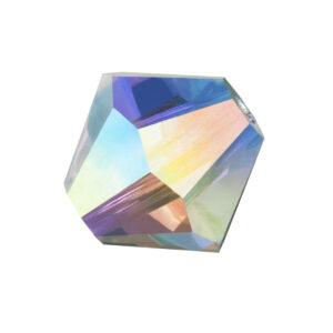 Crystal AB Preciosa crystal bicone bead
