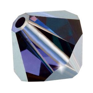 Deep Tanzanite Preciosa crystal bicone bead
