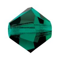 Emerald Preciosa crystal bicone bead