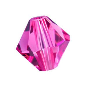 Indian Pink Preciosa crystal bicone bead