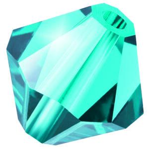 Indicolite Preciosa crystal bicone bead