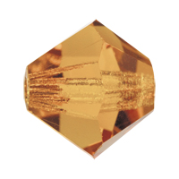 Light Colorado Topaz Preciosa crystal bicone bead