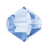 Light Sapphire Preciosa crystal bicone bead