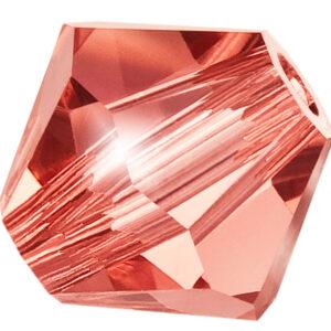 Padparadscha Preciosa crystal bicone bead